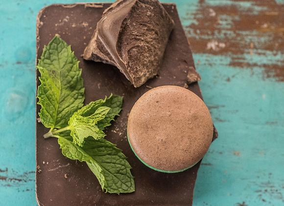 Mint Chocolate Macaron