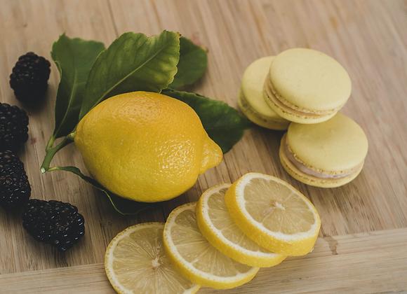 Blackberry Lemon Macaron
