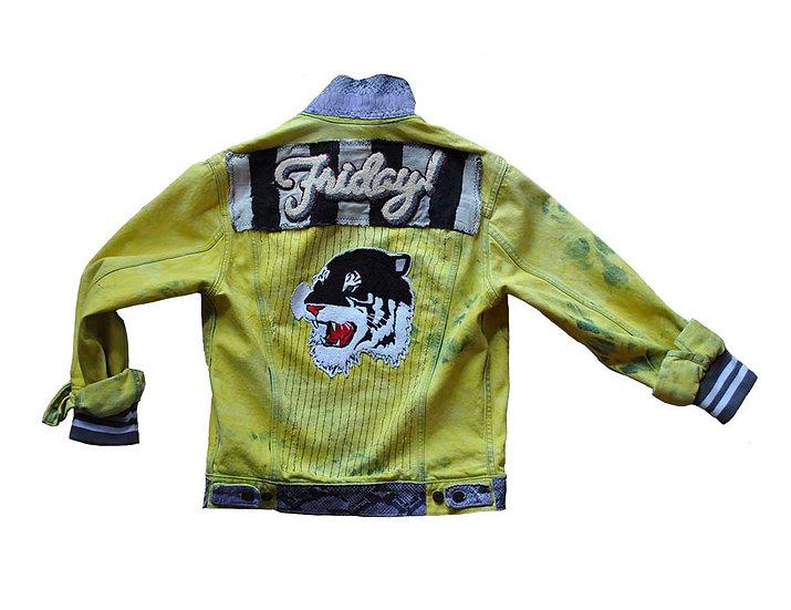 Friday Yellow Dyed Denim Jacket