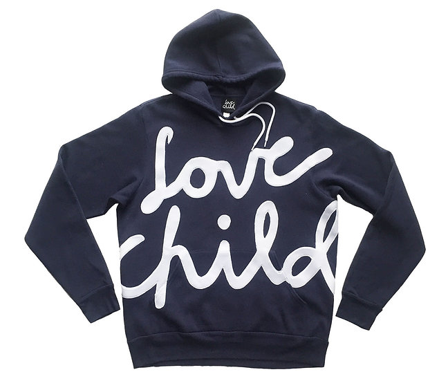Navy Wrap Around Hoody