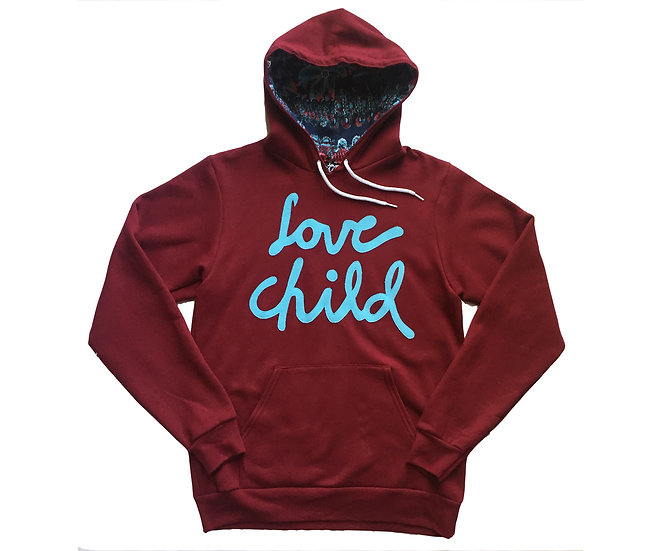 Cranberry & Baby Blue LC Hoodie