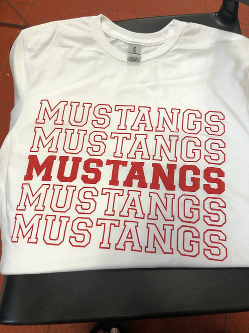 White Mustangs Tshirt