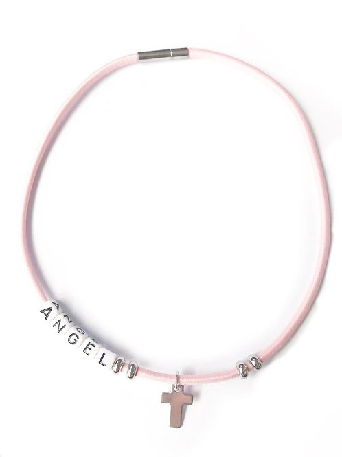 COLLIER ANGEL ROSE