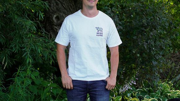 T-Shirt pour homme Une vache à la fois - Champion