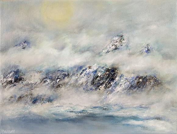 Cloudy moutain art