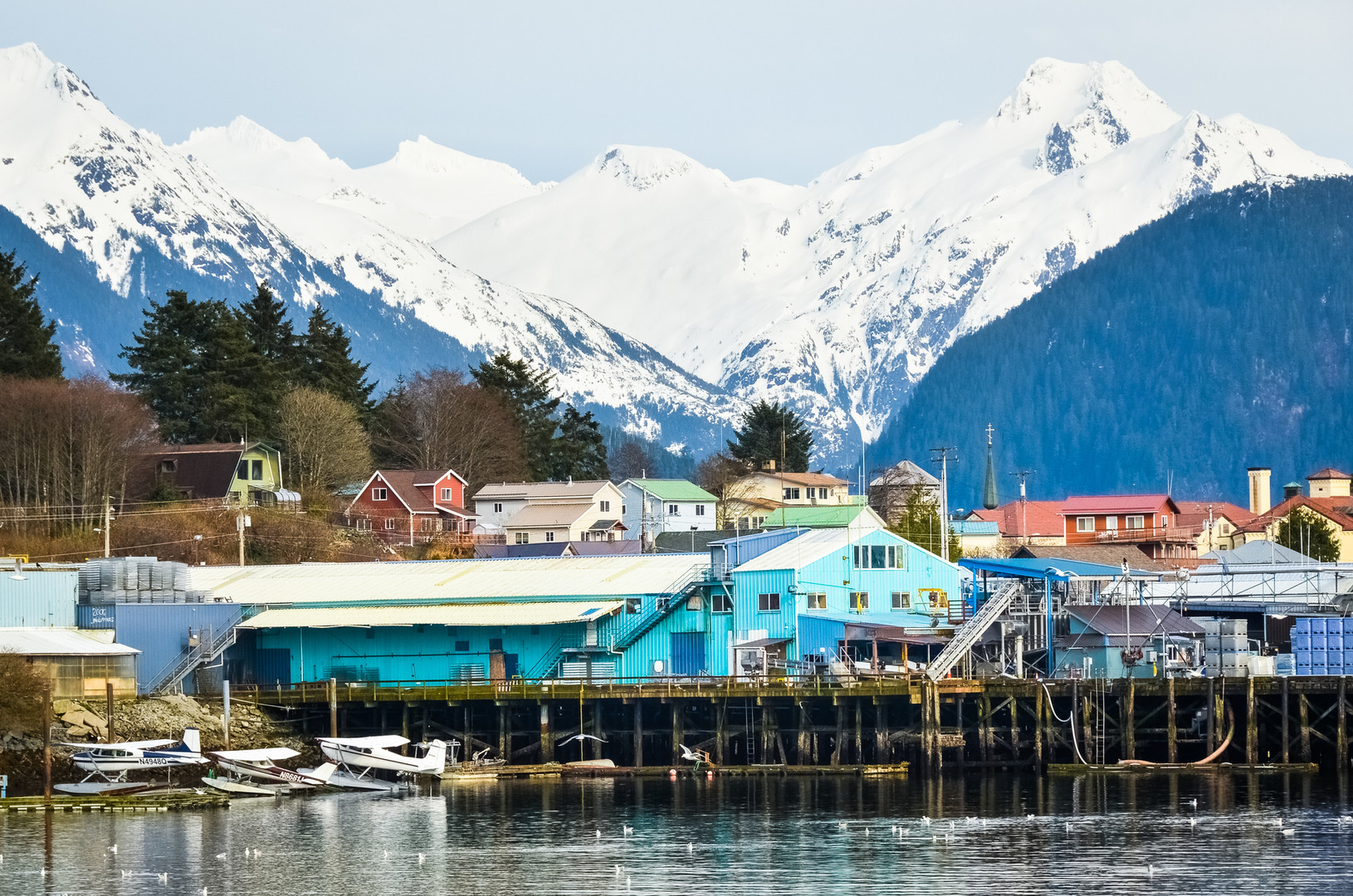 Sitka Alaska Harbor From The Water.jpg