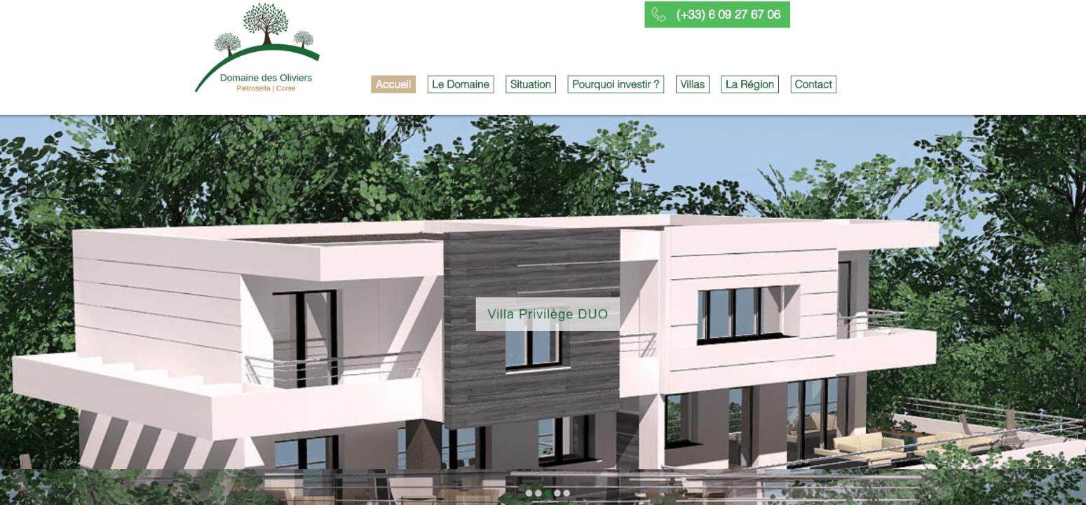Site Domaine des Oliviers Corse