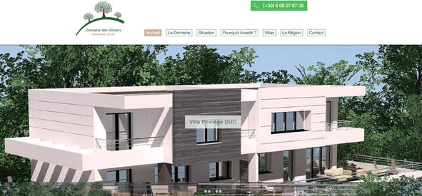 Création site internet Domaine des Olivi