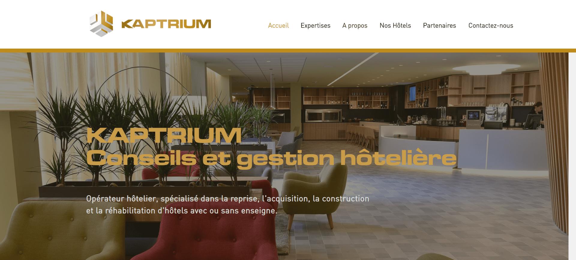 Site Kaptrium Conseil Gestion Hôtlière