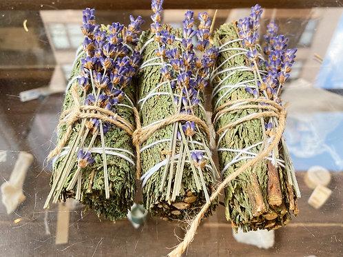 Cedar Lavender Smoke Wand