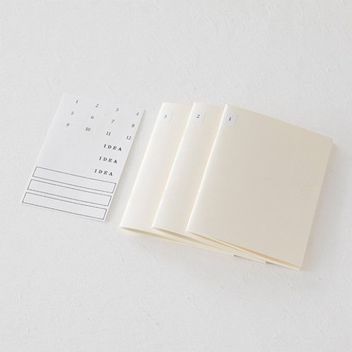 MD A5 Grid Notebook - 3 Pack