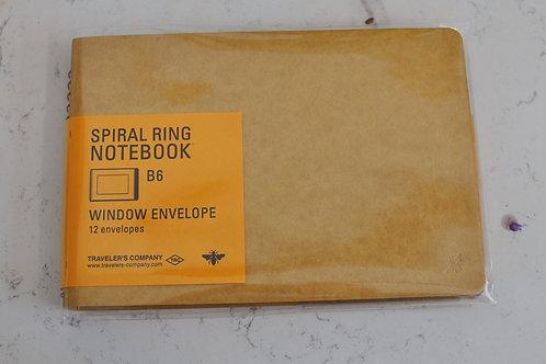 Window Envelope B6 Spiral Ring Notebook