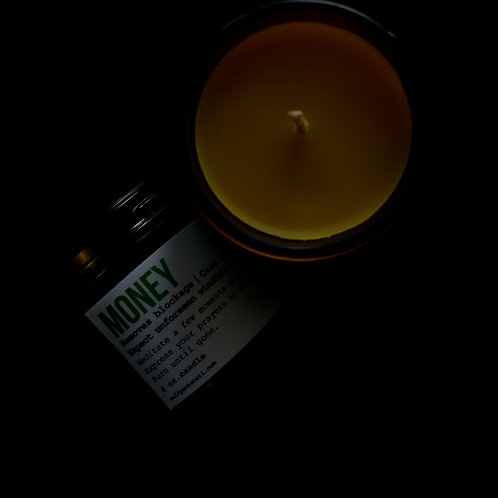 4oz Money Beeswax Candle