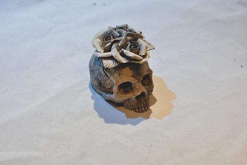Cement Rose Skull