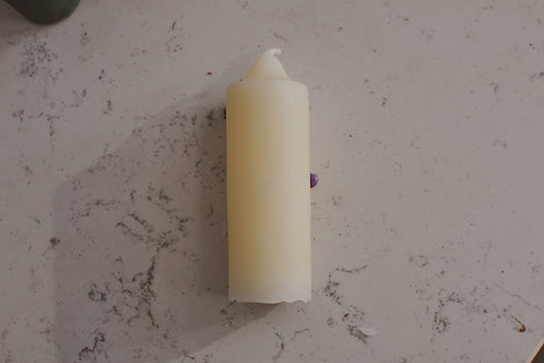 Stubby Taper Candle | Beeswax | White
