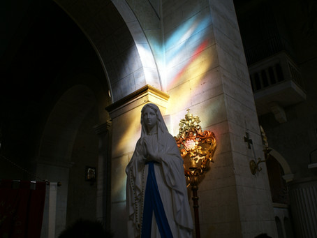 Preregrinazio della reliquia di Santa Bernadetta
