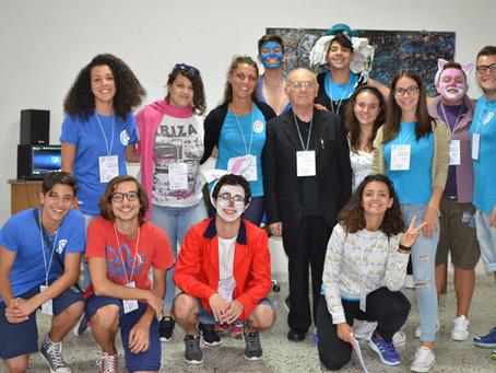 """I ragazzi del gruppo """"Giovanni Paolo II"""" al campo scuola al Santuario di Canneto"""
