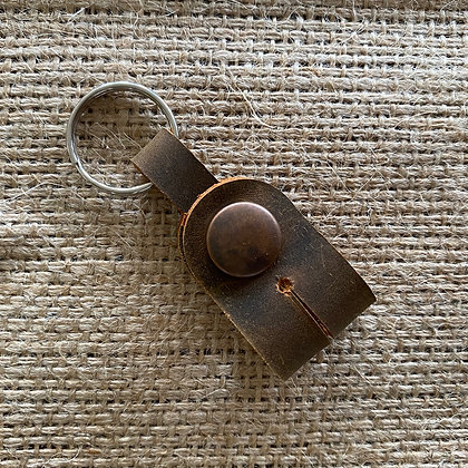 Drum Key Keyring - Brown