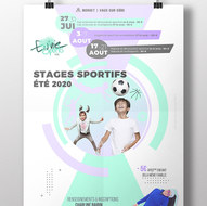 Affiche de stage sportif