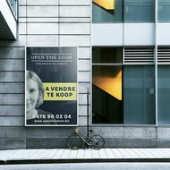 Panneau de vente immobilier