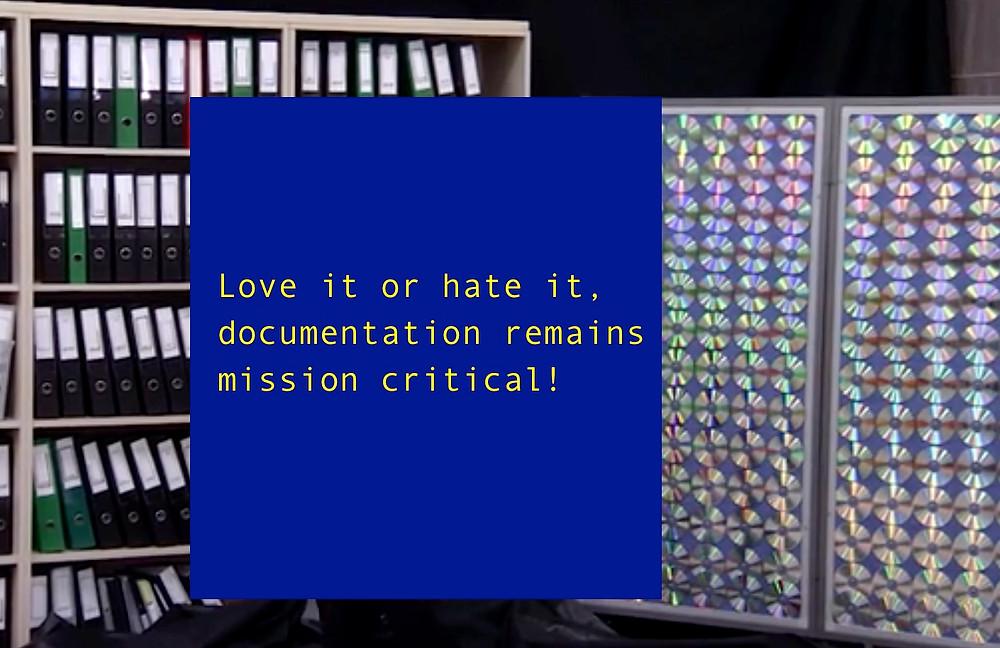 Documentation Remains Mission Critical