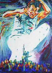 Johnny Clegg - painting by Larry Ger, another child of South Africa