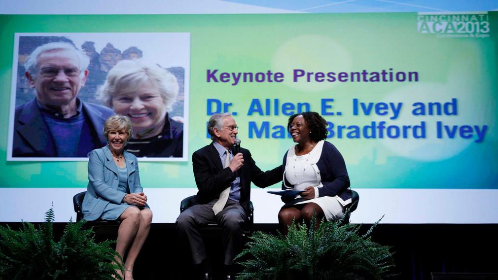 Keynote of American Counseling Association conference (Mary, Allen, President of Association)