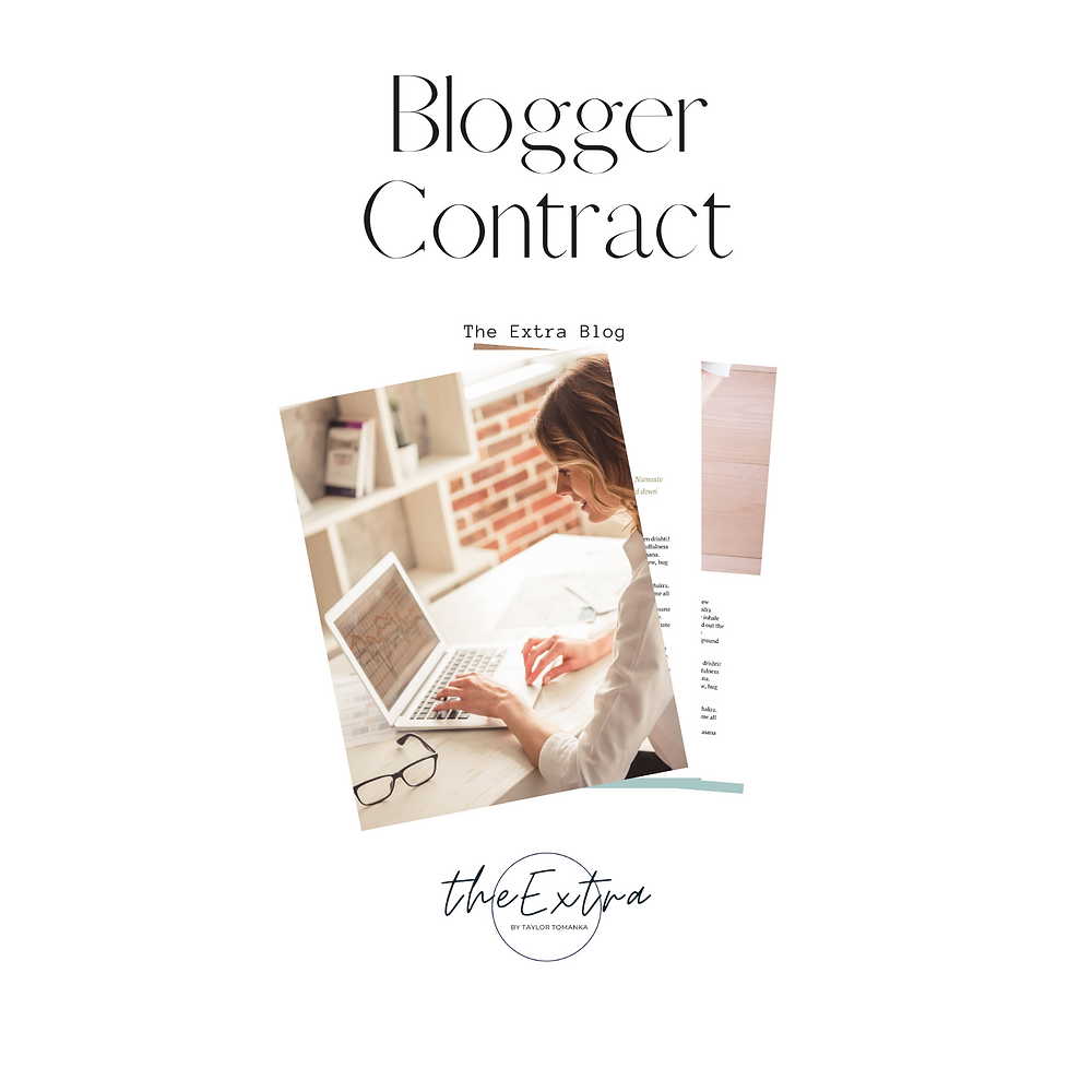 Blogger Contract legal template