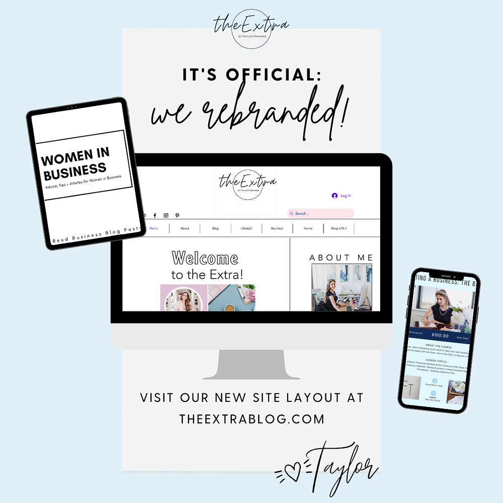 The Extra Blog has rebranded to include business advice, legal templates for your business, and more for female entrepreneurs and boss babes!