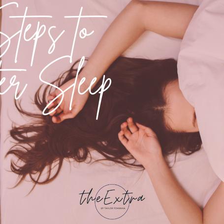 4 Steps to Better Sleep