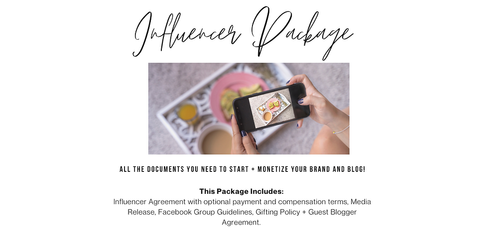 In this package, you'll find all the documents you need to monetize and protect your brand!