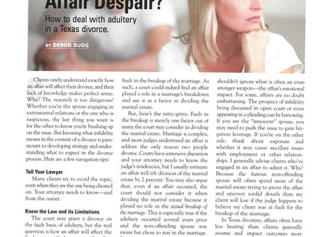 Affair Despair?