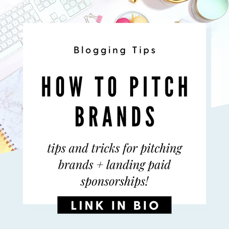 How to Pitch Brands and Get Paid