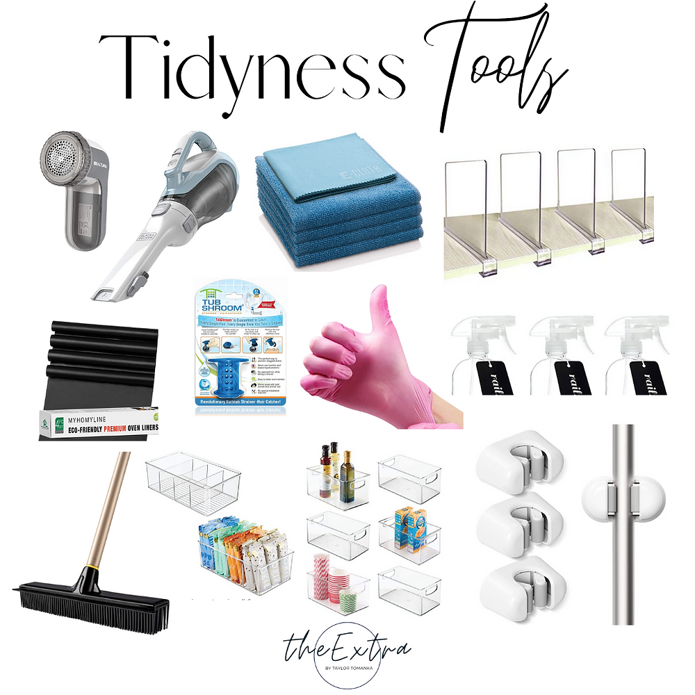 Different tools for keeping your home tidy