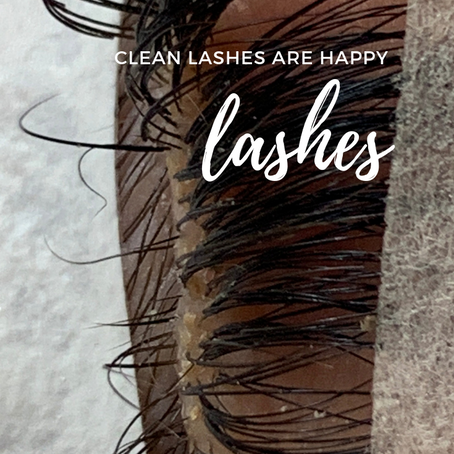 Clean Lashes are Happy Lashes
