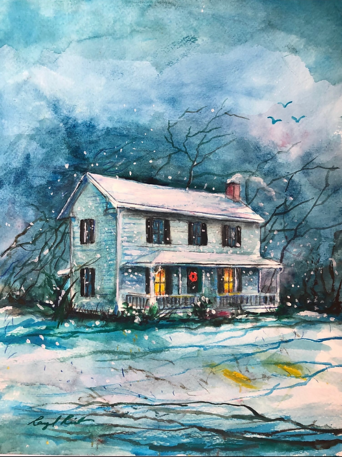 """5""""x7"""" Christmas at the Bellamy House (5 pack )"""