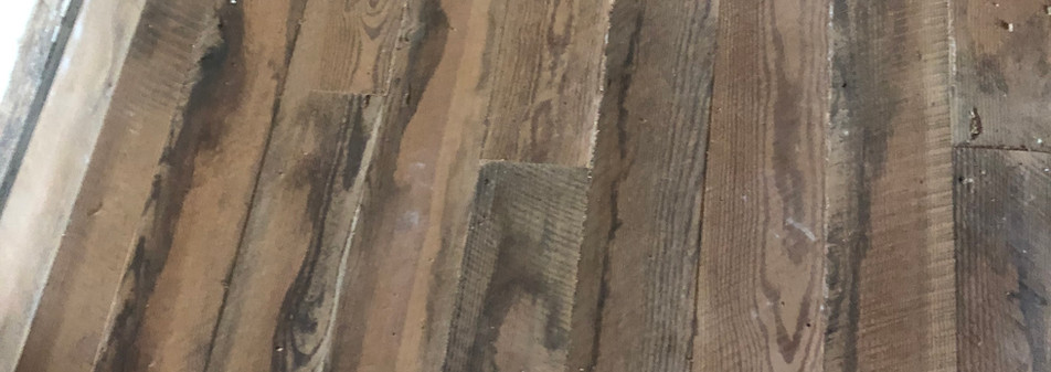 Cabin floor restoration, August 13, 2020