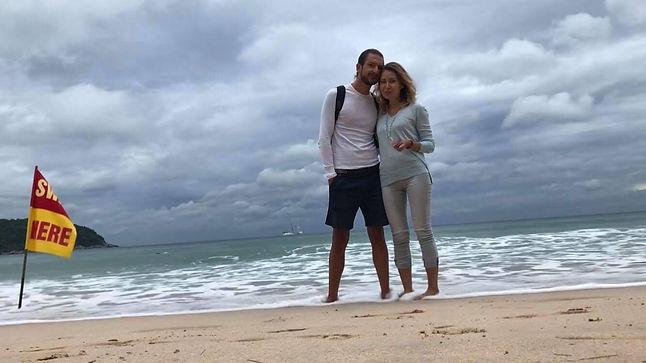 sailing couple, couple, young couple, sea, shore, beach