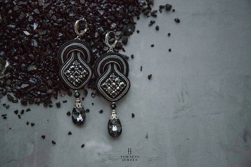 Black&Silver Dangle Earrings