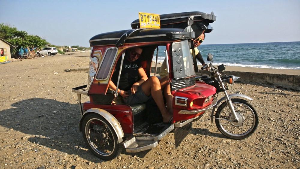 tricycle, beach, vegan, philippines