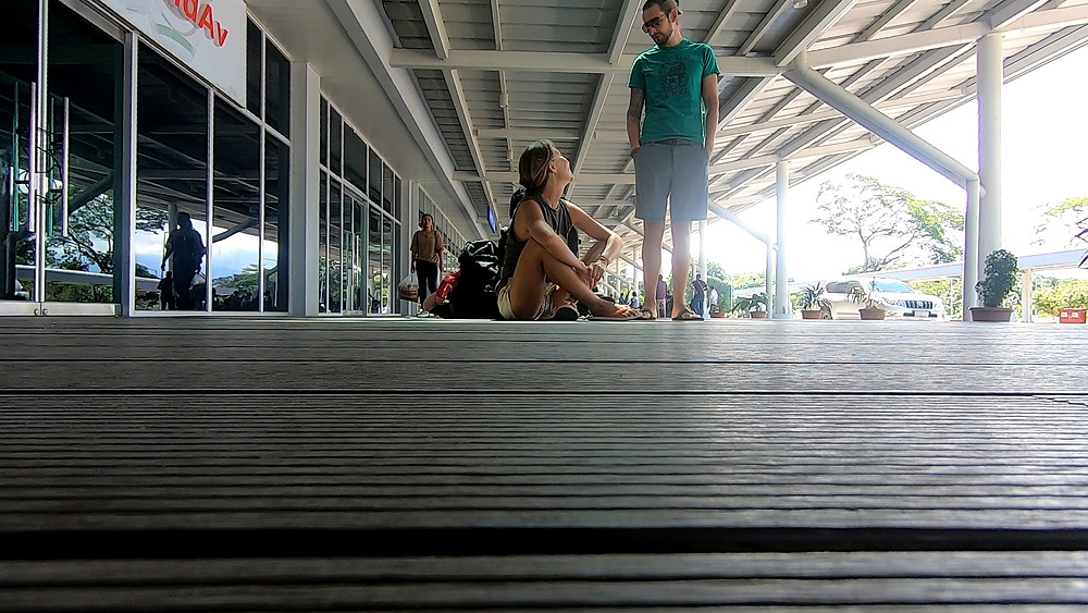 airport, couple at the airport
