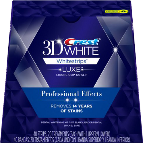 Crest 3D White Teeth Whitestrips Luxe Professional