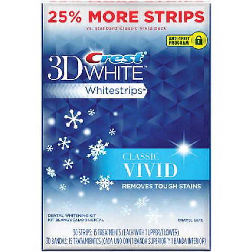 Crest 3D White Classic Vivid Whitestrips 30 strips