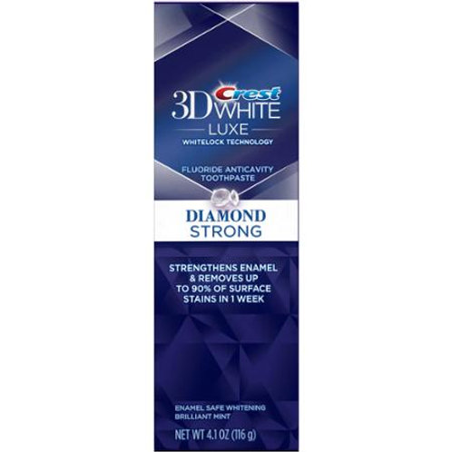 Crest Toothpaste Diamond Strong ,4.1oz ,3 counts
