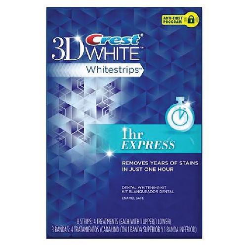 Crest 3D White Whitestrips 1 Hr Express 8pcs