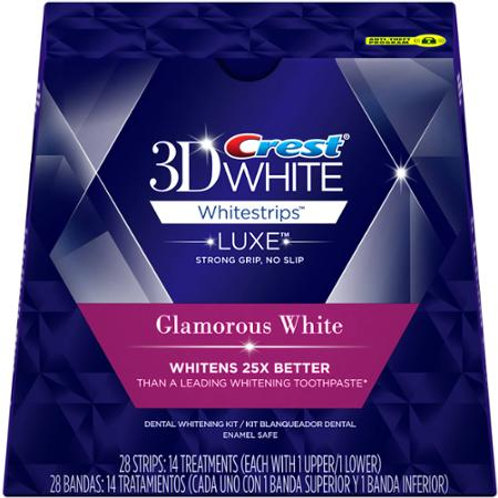 Crest 3D White Teeth Whitestrips Glamorous White
