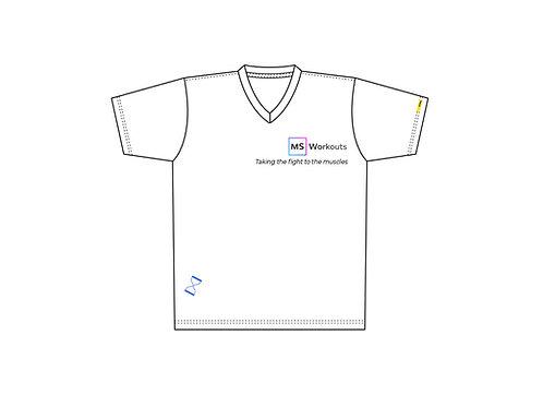MS Workouts Vneck T-Shirt
