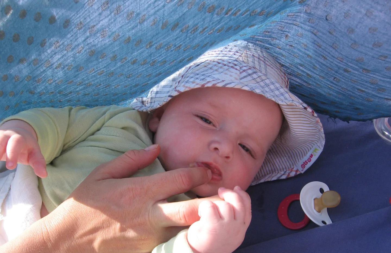לול מצויד וקערת אמבטיה. גם תינוקות אוהבים את תבור לנד.