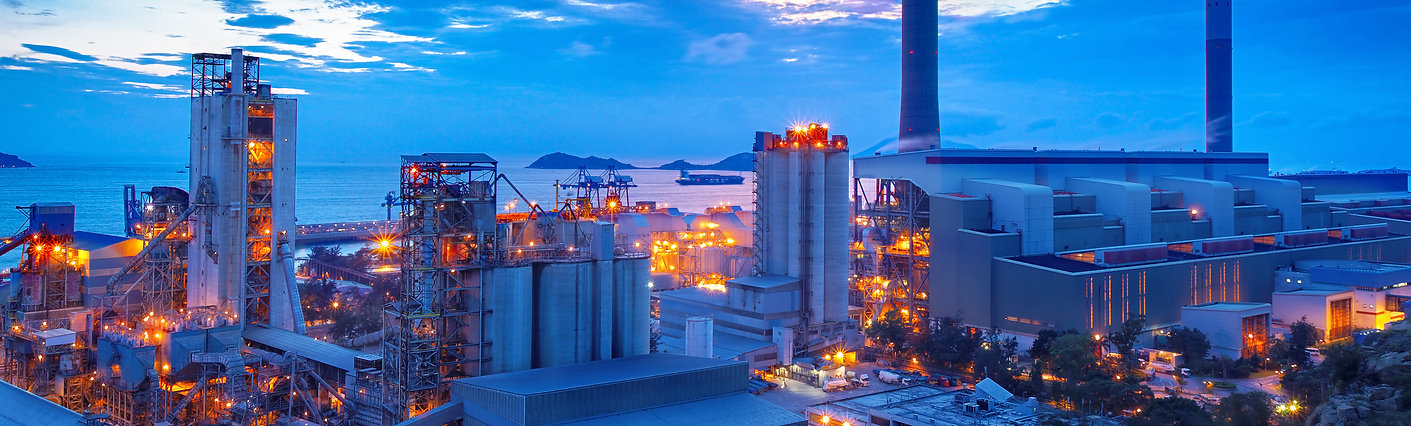 Cement and thermal power station