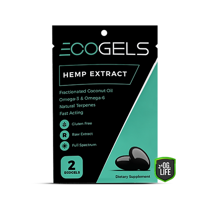 Eco Gels Hemp Extract Travel 2ct Sachet